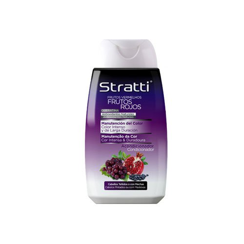 Acondicionador Stratti Frutos Rojos color intenso con keratina 300ml