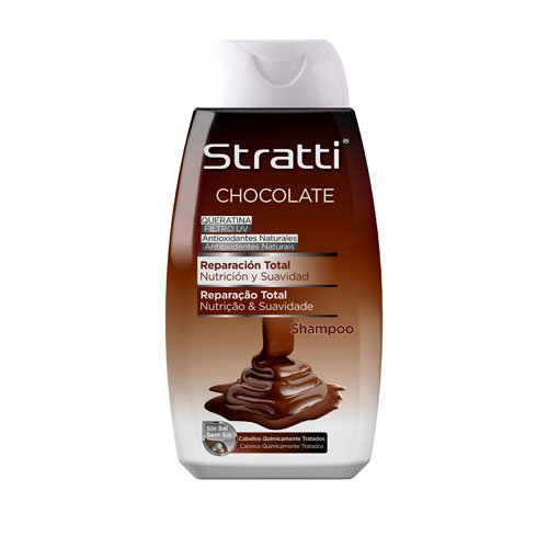 Shampoo Stratti Chocolate & Keratin total repair salt-free 400ml