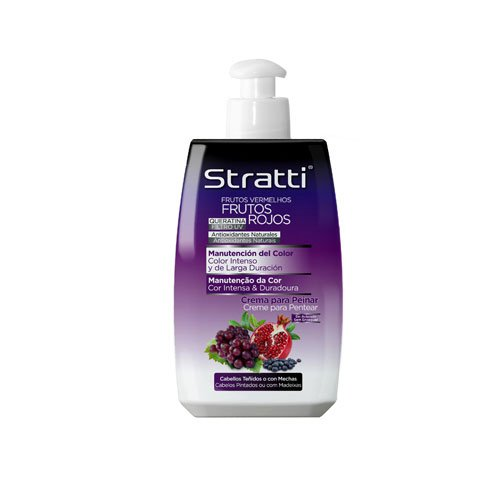 Leave-in cream Stratti Red Fruits intense color with keratin 300ml