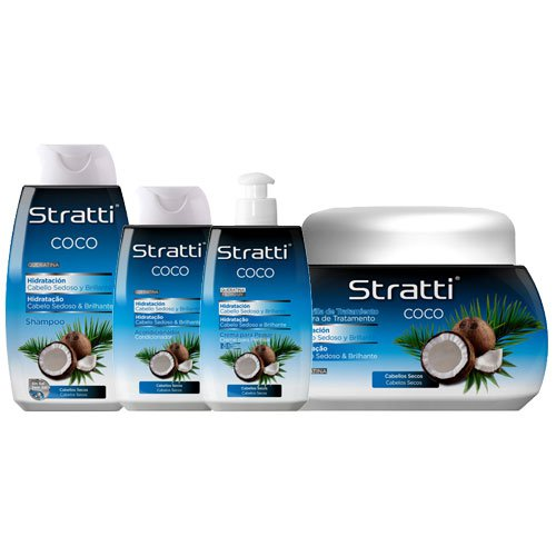 Maintenance pack Stratti Coconut hair hydration 4 products