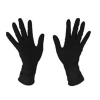 Gloves Eurostil latex black 1 pair