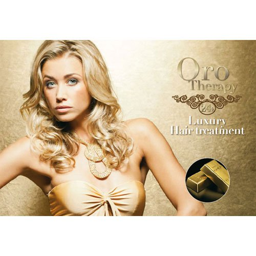 Ammonia-free dye Fanola Oro Therapy 24k 7.3 golden 100ml