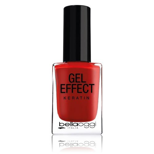 Nail polish Gel Effect Keratin 06 Cherry Passion red 10ml