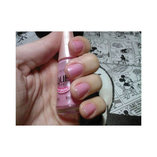 Esmalte de uñas Risqué Pop Rose rosa porcelana gloss 8ml