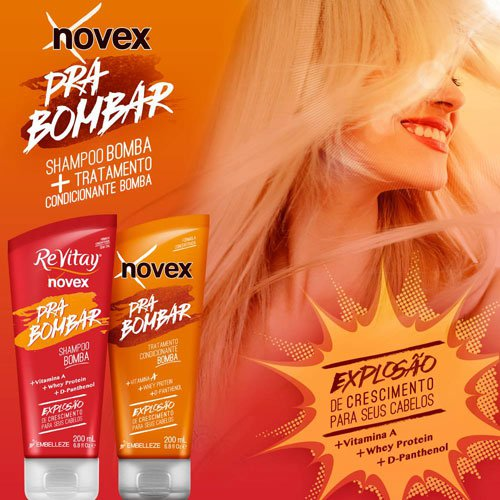 Shampoo Novex Pra Bombar growth explosion salt-free 200ml