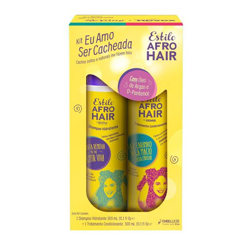 Kit shampoo + conditioner Novex Afro Hair Style 2x300ml