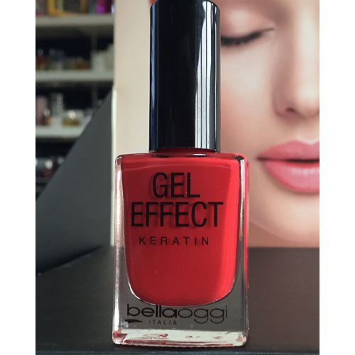 Esmalte de uñas Gel Effect Keratin 39 Poppy Red rojo 10ml