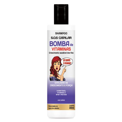 Shampoo Hidran Vitamin Bomb Growth Explosion 300ml