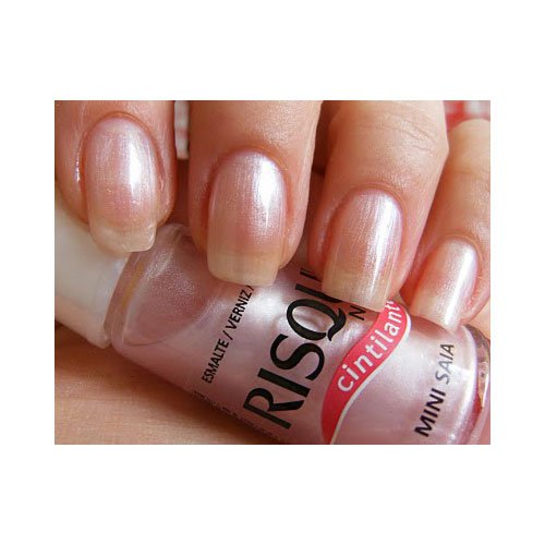 Nail polish Risqué Mini Saia pink pearly 8ml