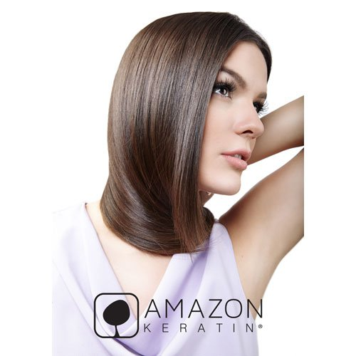 Acondicionador Amazon Keratin Satin liso sin sal ni sulfatos 236ml