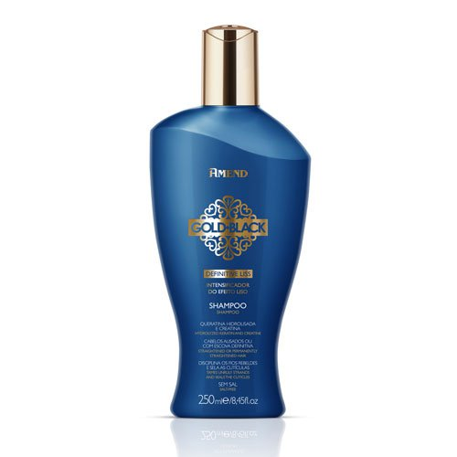 Champú Gold Black Definitive Liss con keratina sin sal 250ml