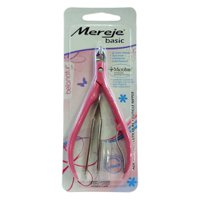 Pink cuticle nipper with tweezers Mereje accessory for manicure