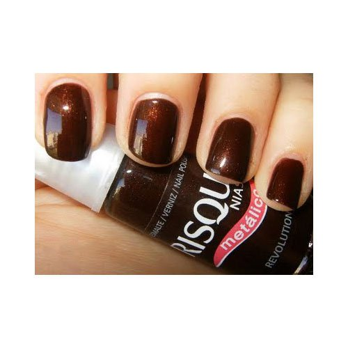 Nail polish Risqué Revolution brown metallic 8ml