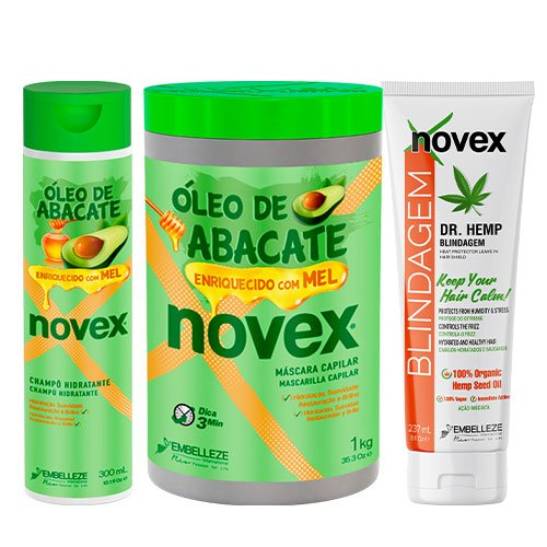 Pack mantenimiento Novex Avocado Hemp 3 productos