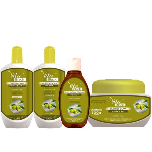 Maintenance pack Vitablack Olive Oil and Shea Butter 4 products