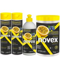 Maintenance pack Novex SuperHairFood Passio Fruit and Blueberry 4 products