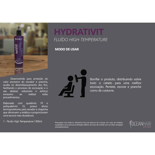 Spray Ocean Hair Hydrativit High Temperature 300ml