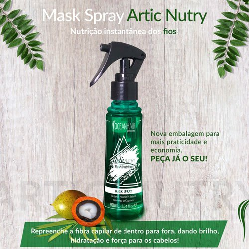 Botox Capilar Ocean Hair Artic Nutry Mask Spray 90ml