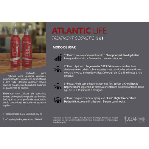Kit Ocean Hair Atlantic Life 2x300ml